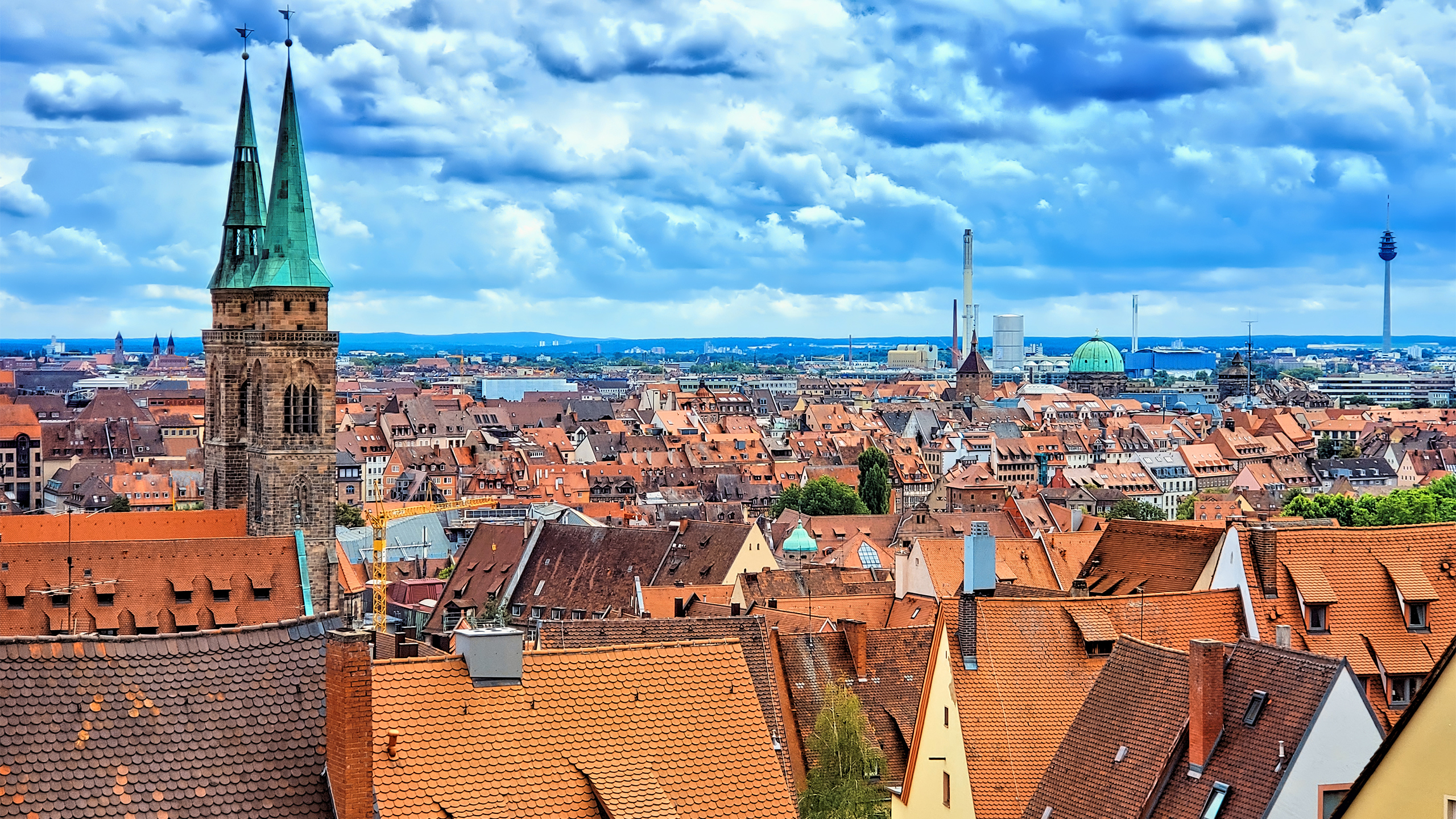 Die historische Altstadt in Nürnberg